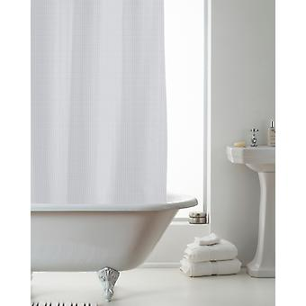 Country Club Waffle Shower Curtain Liner Grey 180 x 180cm