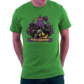Pest Control Bebop og Rocksteady Teenage Mutant Ninja Turtles mænd T-Shirt