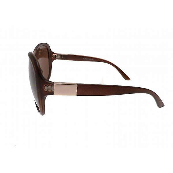 W.A.T Large Brown Round Women's Sunglasses