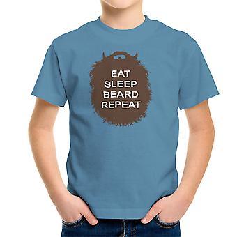 La colección de barba comer camiseta sueño barba repetición infantil