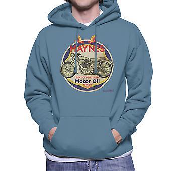 Haynes merk Richfield BSA Motor olie verdrietig mannen Hooded Sweatshirt