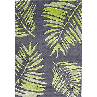 Modern Green Tropical Floral Rugs - Rio