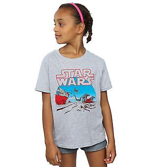 Star Wars Girls The Last Jedi Action Scene T-Shirt