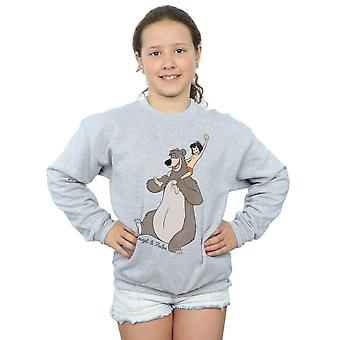 Disney Girls The Jungle Book Classic Mowgli and Baloo Sweatshirt