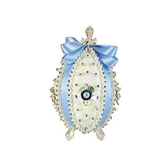 Pinflair Carnation Blue Faberge-Style Easter Egg Pin & Sequin Craft Kit