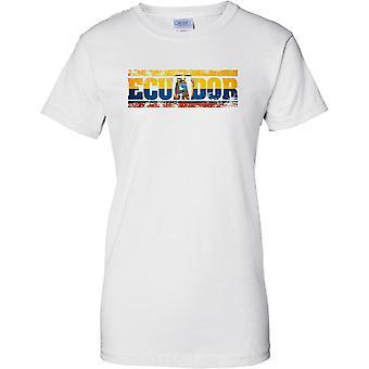 Equador Grunge land naam vlag Effect - T damesshirt
