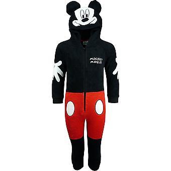 ディズニー ミッキー マウスの男の子フリース フード付きの Onesie パジャマ/Sleepsuits