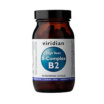 Viridian HIGH TWO Vitamin B2 with B-Complex , 90 Veg Caps