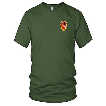 US Army - 24th Field Artillery Division Embroidered Patch - Mens T Shirt