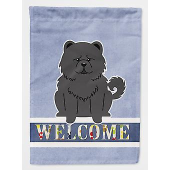 Carolines Treasures  BB5724CHF Chow Chow Black Welcome Flag Canvas House Size