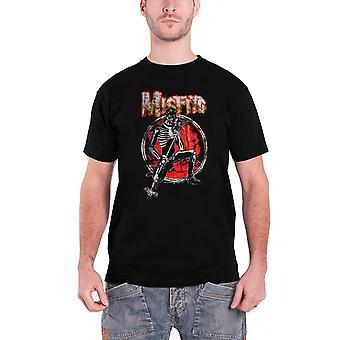 Misfits T Shirt skelet Rocker band logo nye officielle Herre sort