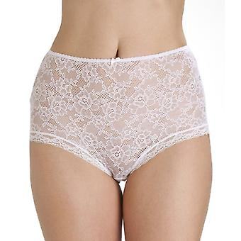 Camille White Lace Panel främre fullständig Brief