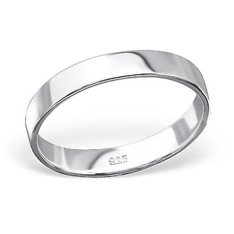 Band - 925 Sterling Silver Plain Rings - W28203X