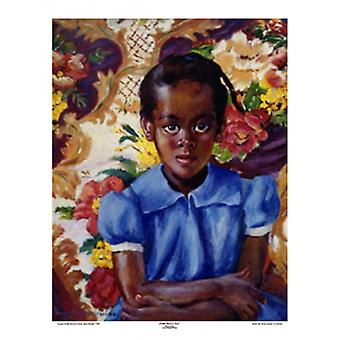 Little Brown Girl Poster Print by Laura Wheeler Waring (19 x 26)