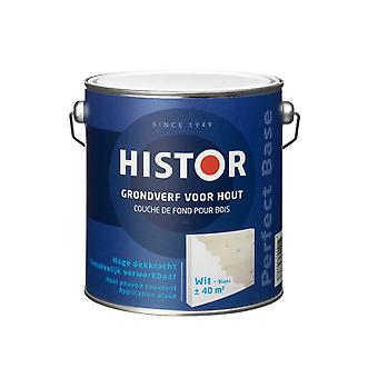 Histor Perfect Base grondverf voor hout wit 2,5 l