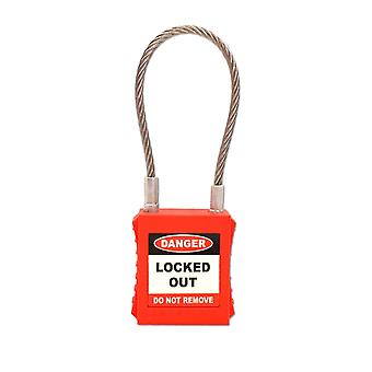ASEC ASEC Safety Lockout Tagout Padlock With Wire Shackle