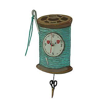 Allen design nål og tråd pendel vegg klokke