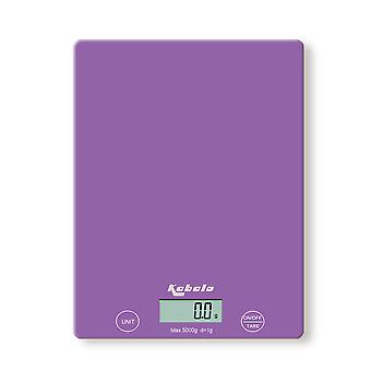 Kabalo 5kg Purple Digital LCD Electronic Kitchen Cooking Baking Prep Food Preparation Weighing Scales UK