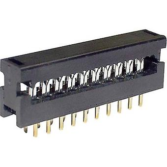 Edge connector (receptacle) LPV25S20 Total number of pins 20 No. of rows