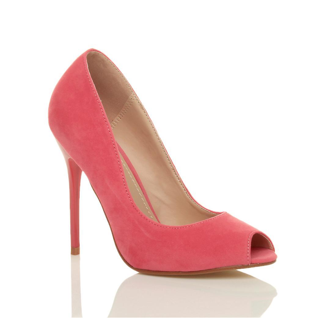 Ajvani Damen high Heels Party Prom arbeiten Pumps Peep Toe Gericht Schuhe Sandalen