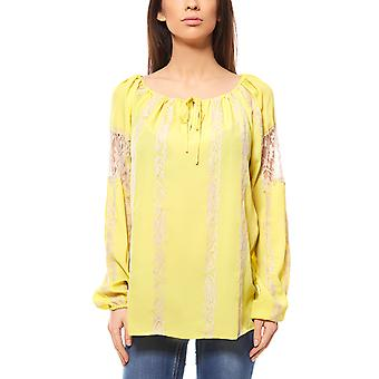 Heine ladies lace blouse yellow 57459
