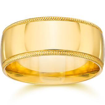 Milgrain Hochzeitsband 14K Gelbgold