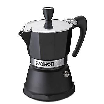 GAT Fashion - Moka Stove Top Coffee Espresso Maker - Aluminium - Black - Various Sizes