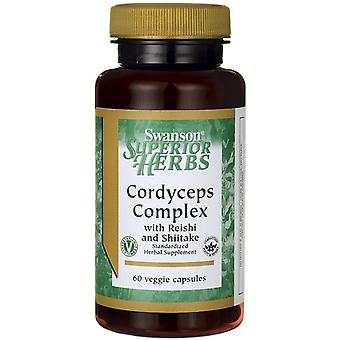 Swanson Cordyceps Complex with Reishi and Shiitake 60 vcaps