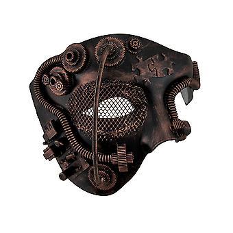 金属のスチーム パンクなファントム半顔の仮面舞踏会マスク