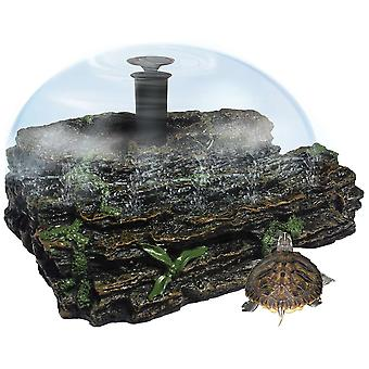 Ica Small Terra Island with Fountain (Reptiles , Turtle Tanks & Accessories)