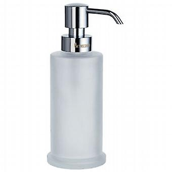 Outline Freestanding Glass Soap Dispenser - Polished Chrome FK253