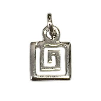 Sterling sølv greske Spiral nøkkel anheng