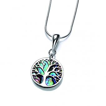 Cavendish French Silver and Abalone Tree of Life Pendant without Chain