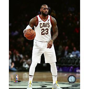 LeBron James 2017-18 handling fotoutskrift