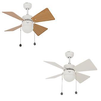 Beacon loft fan Breezer hvid med lys 81 cm/32