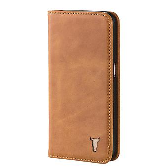 Samsung Galaxy S6 Usa Tan Leather Case, With Stand Function