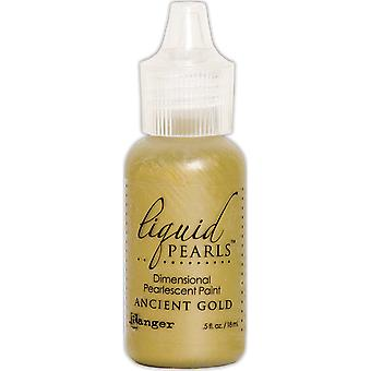 Liquid Pearls Dimensional Pearlescent Paint .5oz-Ancient Gold