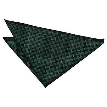 Oscuro verde griego clave Plaza de bolsillo