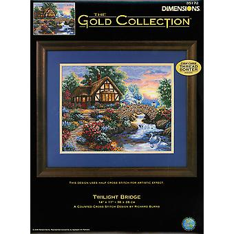 Gold Collection Twilight Bridge Counted Cross Stitch Kit-14