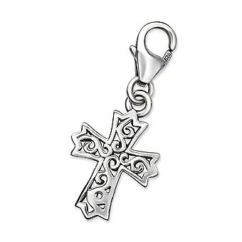 Cross - 925 Sterling Silver Charms With Lobster - W28893x