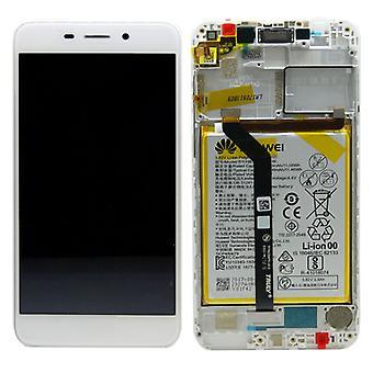 Huawei LCD displayenhet + Pro Service Pack 02351LNB vit ram för honor 6 C nya