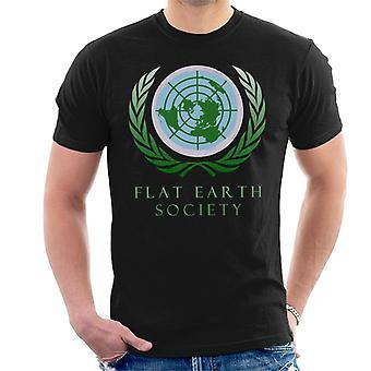 T-shirt dos homens da sociedade de terra plana