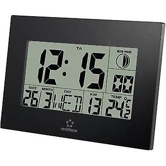 Renkforce E0311R Radio Wall clock 230 mm x 163 mm x 28 mm Black
