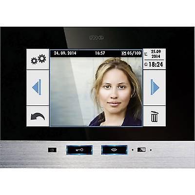 M-e modern-electronics 41022 Video door intercom Corded Indoor panel noir, Stainless steel
