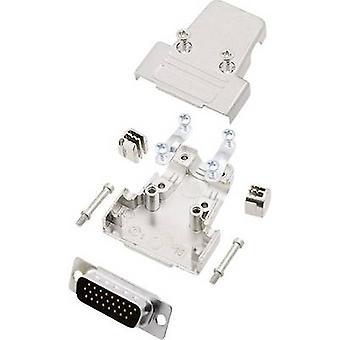 D-SUB pin strip set 180 ° Number of pins: 26 Solder bucket encitech TRI-M-15-HDP26-K 1 Set