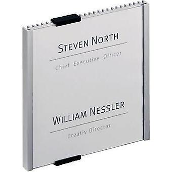 Durable Door sign INFO SIGN (W x H) 149 mm x 148.5 mm Metallic, Silver 480223