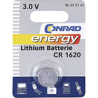 Button cell CR1620 Lithium Conrad energy CR1620 60