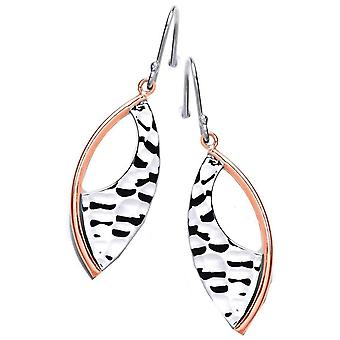 Cavendish French Tribal Shield Earrings - Silver/Copper