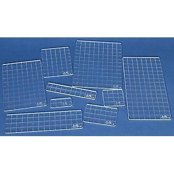 Tim Holtz Acrylic Stamping Grid Blocks 9/Pkg