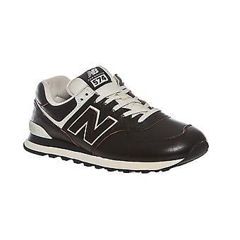 New balance mens sneakers genuine leather 574 black